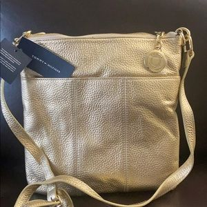 Golden Tommy Hilfiger bag,with tag new